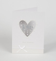 Die Cut Heart Pearl 30th Anniversary Card