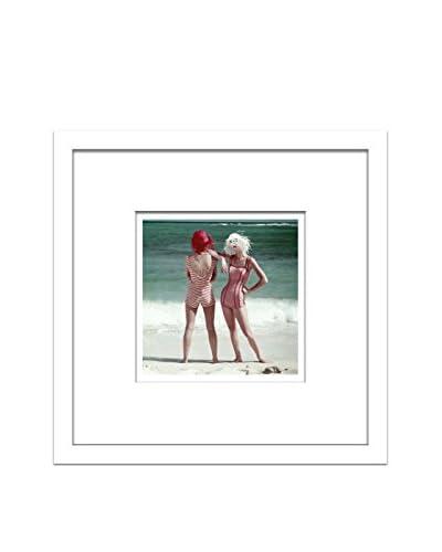 "Conde Nast Glamour Magazine ""Models On Beach"" Editorial Art"
