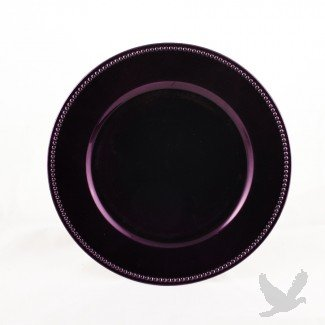 Elegant Purple Charger Plates BULK, Set of 24