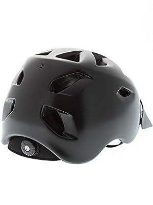 Bern Satin Black 2015 Prescott Zipmold-Visor Womens MTB Helmet by Bern