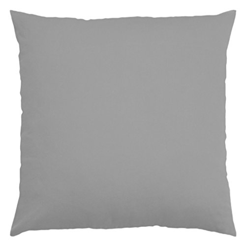 Cotton Throw Pillow Inserts : JinStyles Cotton Canvas Accent Decorative Throw Pillow / Cushion Covers (Solid Gray, Square, 1 ...