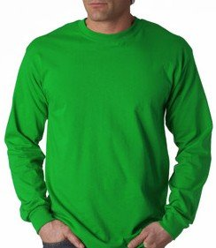 Premium Long Sleeve T-Shirt (Irish Kelly Green): Sports & Outdoors