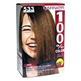 Garnier 100% Color Permanent Creme Colourant 533 Intense Golden Brown pack