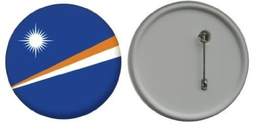 Button / badge bandiera Isole Marshall - 58mm