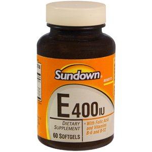 Special Pack Of 5 Sun Down Vitamin E 400 W/Folic Acid 60 Per Pack