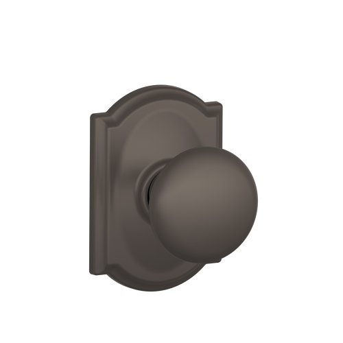 Schlage F10 Ply 613 Cam Camelot Collection Plymouth Passage Knob, Oil Rubbed Bronze