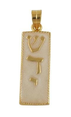 Gold Filled and Silver Mezuzah Pendant