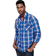 "2"" Longer North Coast Pure Cotton Checked Shirt"