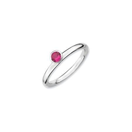 Stackable Expressions : High 4mm Created Ruby Ring, Size L