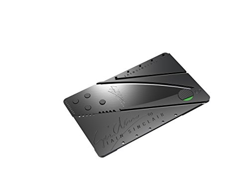 Iain Sinclair Cardsharp2 Authentic Credit Card Sized Folding Knife with Black Blade with Serial Number