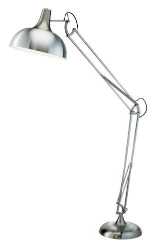 Adesso Atlas Floor Lamp, Satin Steel