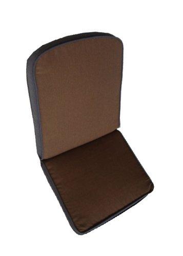 Ambientehome Auflage für Stuhl Wendeauflage, braun/grau