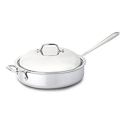 All-Clad Tri-Ply Stainless Steel 4-qt. Saute Pan with Domed Lid
