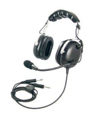 Ran-1000A Premium Noise Reducing Aviation Headset - Basic Black - Mp3 / Satellite Radio / Iphone Compatible