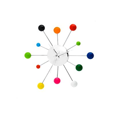 Karlsson Wall Clock Mixed Spider, Multi Colour, Steel Chrome