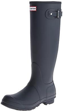 Hunter Original Tall Rain Boot Navy Womens 8 M US