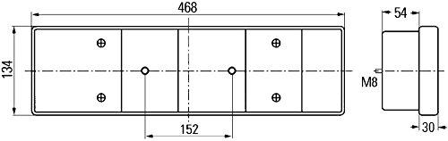 Hella 2VP 008 204-241 Elemento di regolazione, bloccaggio centrale