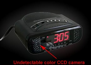 Low Profile Clock Radio nanny cam