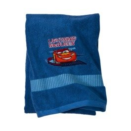 Disney Pixar Cars Blue Embroidered Bathroom Towel Great