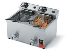 Vollrath (40710) - 15 Lb Medium-Duty Electric Countertop Fryer - Cayenne Series