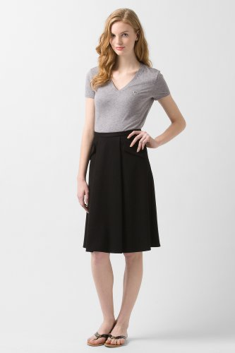 Mid-Calf A-Line Milano Knit Skirt