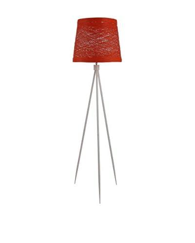 International Designs Stiletto Floor Lamp, Orange
