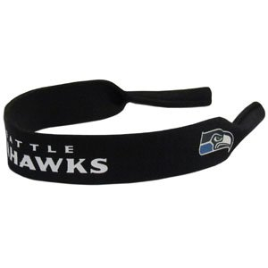 NFL Seattle Seahawks Neoprene Sunglass Strap, Blue