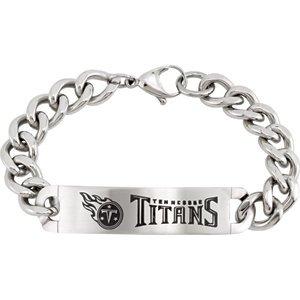 Stainless Steel Tennessee Titans ID Bracelet