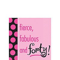 Another Year Fabulous Beverage Napkins Pk Of 16 -Forty Birthday Party Tableware