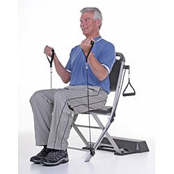Resistance Chair Exercise System Refurbished a Compact Home Gym for Users of All Ages, the Resistance Chair Exercise System Uses Patented Elastic Resistance Cables to Provide a Wide Range of Exercises for Your Arms, Shoulders, Chest, Abdomen, Back, and Legs. Fully Assembled and Ready to Use, It Comes Complete with an Instructional Dvd