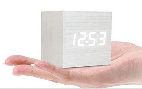 Amaranteen - 1Pcs Thermometer Modern Wooden Wood Usb/Aaa Powered