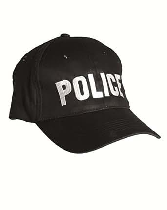 "Casquette brodée ""Police"" Taille réglable - Snapback cap - Coloris Noir - Airsoft - Paintball - Outdoor"