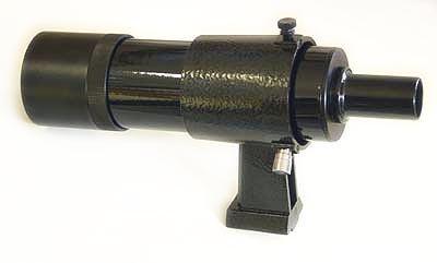 TS Optics Sucherfernrohr 8x50 mit Halter, geradsichtig, schwarz, TSSU850GS