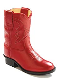 Old West Toddler-Girls\' Cowboy Boot Red 7 D(M) US