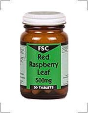 FSC 500mg Red Raspberry Leaf 30 Tablets