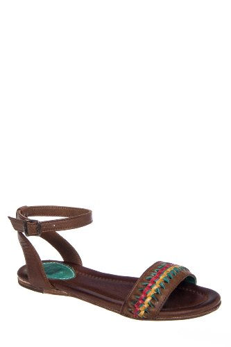 Frye Jacey Twisted Flat Ankle Strap Sandal