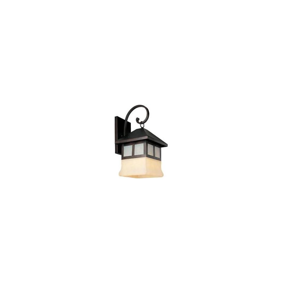 Maxim 8706LCOI Dark Sky 1 Light Outdoor Wall Oil Rubbed Bronze Light Cream Glass