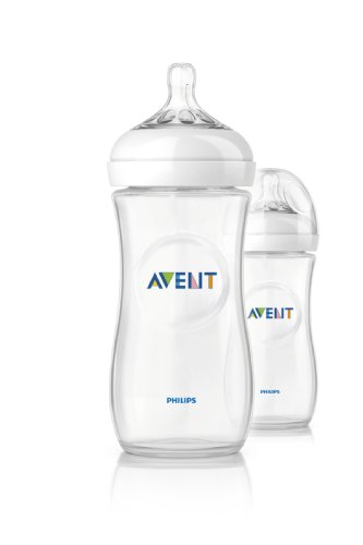 Philips Avent BPA Free Natural Polypropylene Bottle, 11 Ounce, 2-Count - 1