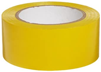 "Brady 58200 108' Length, 2"" Width, B-725 Vinyl Tape, Yellow Color Aisle Marking Tape"