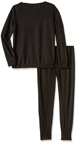 Fruit of the Loom Little Girls' Active Performance Thermal Underwear Set, Intradeco Black, 4/5 (Thermal Girls compare prices)