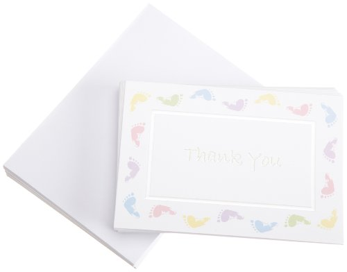 Wilton Baby Feet Thank You Cards