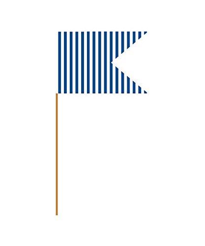 Creative Converting Flag Food Picks, Mini, Blue Striped
