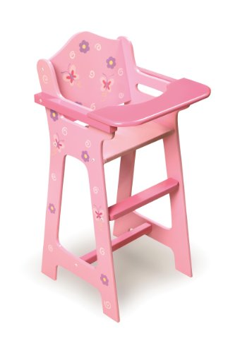 Badger Basket Blossoms and Butterflies Doll High Chair (fits American Girl dolls) - 1