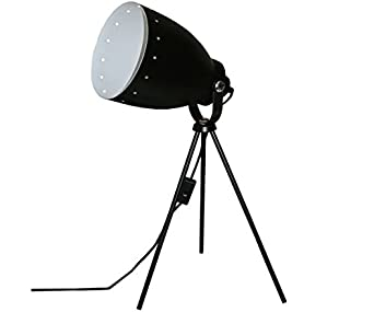 Lampe tr pied noire style projecteur de cin ma studio for Lampe projecteur cinema sur trepied