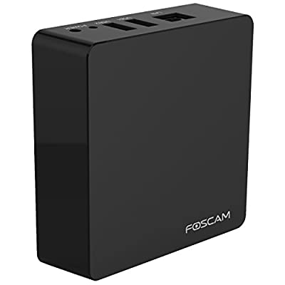 Foscam FN3004H (Black) - Supports 4 X 960p (1.3MP) IP Cameras @ 30fps Realtime, PC Web Browser Remote Access, Feature-Rich OSD with Multiple Trigger & Alarm Events, ONVIF Compliance