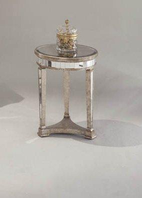 Bassett Mirror Borghese Round Lamp Table 8311-220