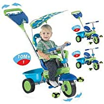 Smart Trike Plus Tricycle - Green, Blue and Purple