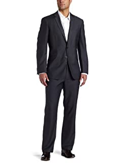 Kenneth Cole Reaction Mens Grey Solid Suit Separate Coat,  Gray, 40 S