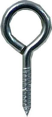 "Hampton Lag Thread Eyebolt 1-1/8"" 4"" Overall 1-3/4"" Tread 325 Lb Bulk Stl front-396419"