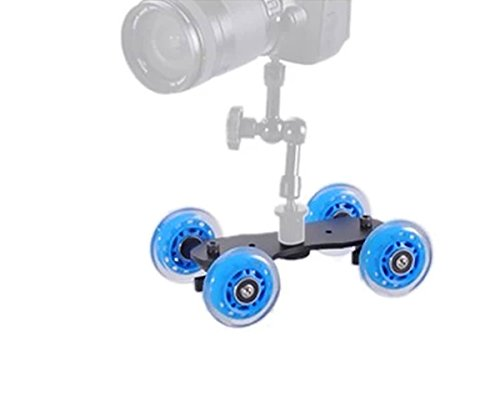 "Blue Camera Video Dolly 5D 5D2 Camera Track Car Small Desktop Dolly + 11"" Magic Arm 360 Whirling"